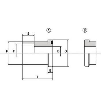 C4027-S-A / B 6000 PSI Serisi O-Ringli (A) / O-Ringsiz (B) Geçme Kaynaklý Düz Flanþ - Flanþ Kepli Uygulamalar Ýçin