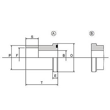 C2521-S-A / B 3000 PSI Serisi O-Ringli (A) / O-Ringsiz (B) Geçme Kaynaklý Düz Flanþ - Flanþ Kepli Uygulamalar Ýçin