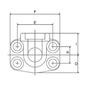 FS602-90°-S 6000 PSI Serisi O-Ringli Kaynaklý 90° Flanþ - Geçme Kaynaklý Tip