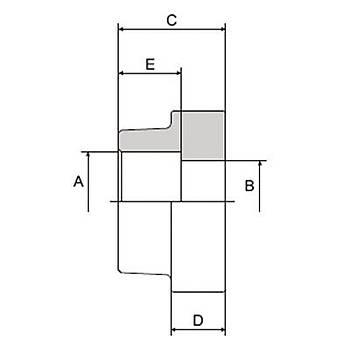 C104-S-FF 3000 PSI Serisi O-Ringsiz Kaynaklý Düz Flanþ - Geçme Kaynaklý Tip