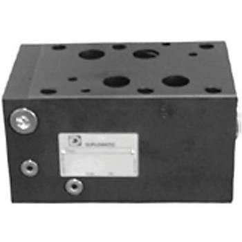 PCM8-PT8/EE/10N ( Cetop 3-5-8 ) NG 6-NG10-NG25 Modüler Kompansatör