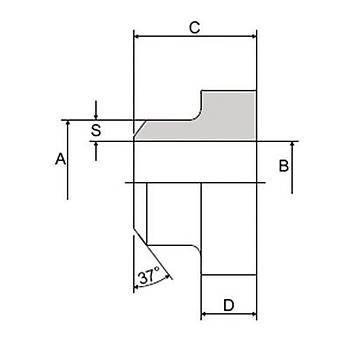 C104-ST-FF 3000 PSI Serisi O-Ringsiz Kaynaklý Düz Flanþ - Alýn Kaynaklý Tip