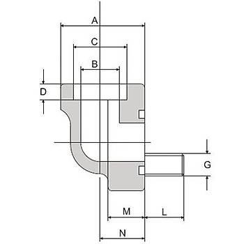 FS280-90°-S 3000 PSI Serisi O-Ringli Kaynaklý 90° Flanþ - Geçme Kaynaklý Tip