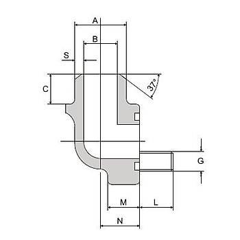 FS308-90°-ST 3000 PSI Serisi O-Ringli Kaynaklý 90° Flanþ - Alýn Kaynaklý Tip
