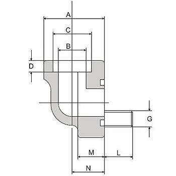 FS300-90°-S 3000 PSI Serisi O-Ringli Kaynaklý 90° Flanþ - Geçme Kaynaklý Tip