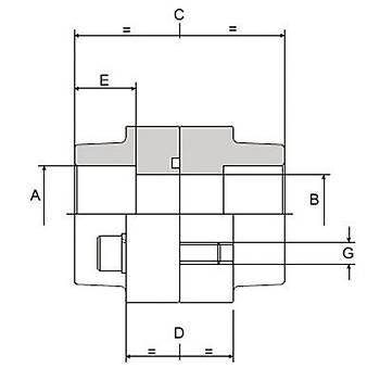 DFS112-S 3000 PSI Serisi O-Ringli/O-Ringsiz Takým Kaynaklý Düz Flanþ - Geçme Kaynaklý Tip