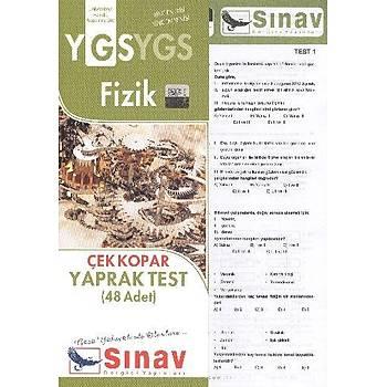 Sýnav YGS Fizik Çek Kopar Yaprak Test