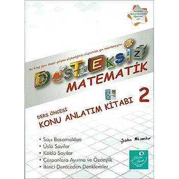 Kartezyen Desteksiz Matematik 2 Ders Öncesi Konu Anlatým Kitabý