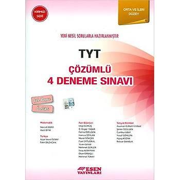 Esen TYT Çözümlü 4 Deneme Sýnavý Kýrmýzý Seri