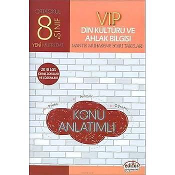 Editör 8.Sýnýf VIP Din Kültürü ve Ahlak Bilgisi Konu Anlatýmlý