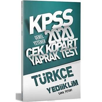 Yediiklim 2020 KPSS Türkçe Çek Kopart Yaprak Test
