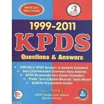 1999-2011 KPDS Questions & Answers - Serdar Yýldýrým - Pelikan Týp Teknik Yayýncýlýk