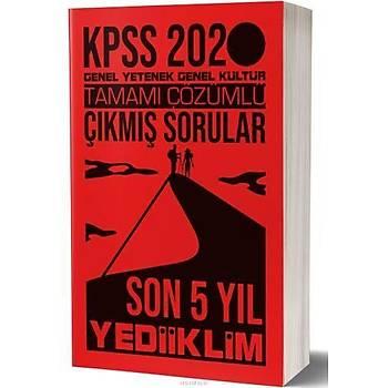 Yediiklim 2020 KPSS Lisans Son 5 Yýlýn Çözümlü Çýkmýþ Sorularý