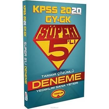 Yediiklim 2020 KPSS Lisans Çözümlü Süper 5li Deneme
