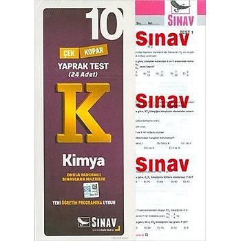 Sýnav 10.Sýnýf Kimya Yaprak Test