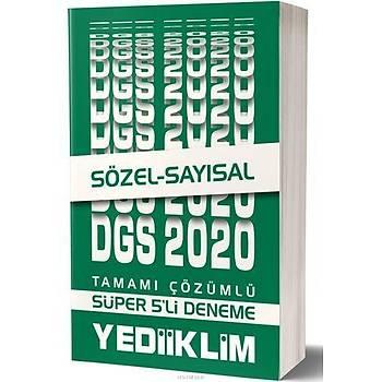 Yediiklim 2020 DGS Sözel Sayýsal Süper 5li Çözümlü Deneme