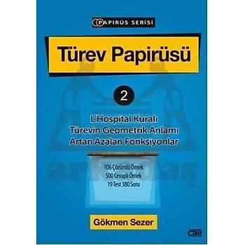 Türev Papirüsü 2; LHospital Kuralı Türevin Geometrik Anlamı Artan Azalan Fonksiyonlar