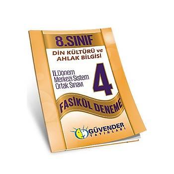 8. Sýnýf Din Kültürü ve Ahlak Bilgisi 2. Dönem 4 Fasikül Deneme Güvender Yayýnlarý