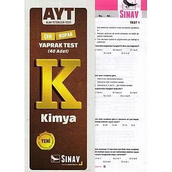 Sýnav AYT Kimya Yaprak Test