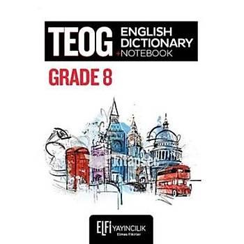 8. Sýnýf TEOG English Dictionary Notebook Elfi Yayýncýlýk