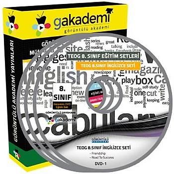 Görüntülü Akademi TEOG 8. Sýnýf Ýngilizce Görüntülü Eðitim Seti 9 DVD