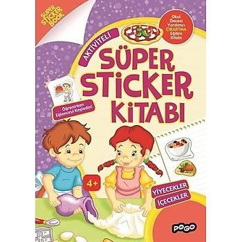 Süper Sticker - Yiyecekler Ýçecekler - Kolektif - Pogo Çocuk