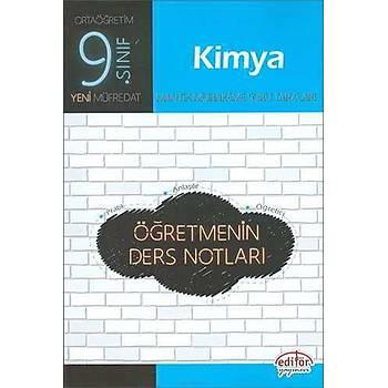 Editör 9.Sýnýf Kimya Öðretmenin Ders Notlarý (2019 Müfredat)