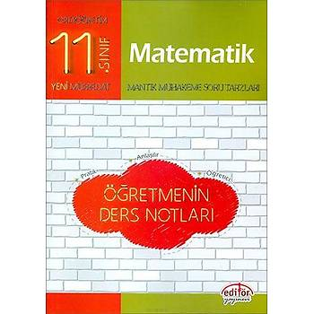Editör 11.Sýnýf Matematik Öðretmenin Ders Notlarý