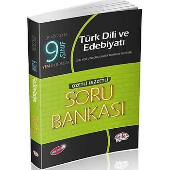 Editör 9.Sýnýf VIP Türk Dili ve Edebiyatý (Özetli Lezzetli) Soru Bankasý