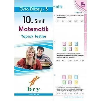 10. Sýnýf Matematik Yaprak Testler Orta Düzey (B)