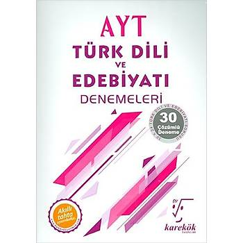 Karekök AYT Türk Dili Ve Edebiyatý 30 lu Deneme Sýnavý