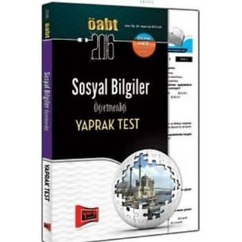 ÖABT KPSS Sosyal Bilgiler Öðretmenliði Yaprak Test 2016