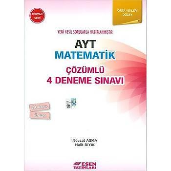 Esen AYT Matematik Çözümlü 4 Deneme Sýnavý Kýrmýzý Seri
