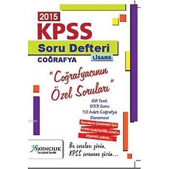 2015 KPSS Soru Defteri Lisans Coðrafyacýnýn Özel Sorularý