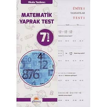 7. Sýnýf Matematik Yaprak Test Güneþ Yayýn Daðýtým