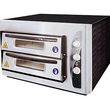 PO-502 Çift Katlý Pizza Fýrýnlarý Ø 30 cm x 8 pizza tepsi kapasiteli