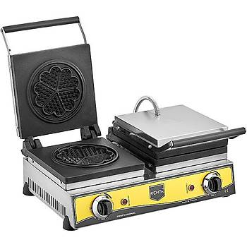 Remta Çiftli Waffle Yonca 21 cm Çap Makinesi