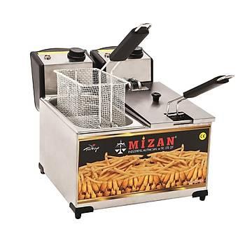 Mizan 8+8 Litre Elektrikli Fritöz Makinesi