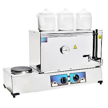 Emir Gold Otomatik Çay Kazaný Üç Demlikli Elektrikli Pleytli