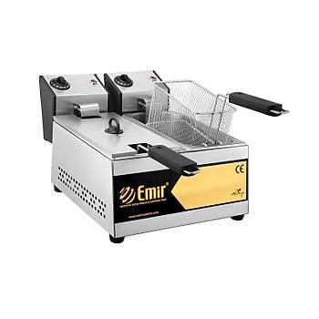 Emirmakine Büfe Tipi 3+3 Litre Elektrikli Fritöz Makinesi 1-Kalite