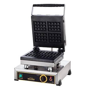 Iþýkgaz Silver Tekli Waffle Makinesi 4 Kare