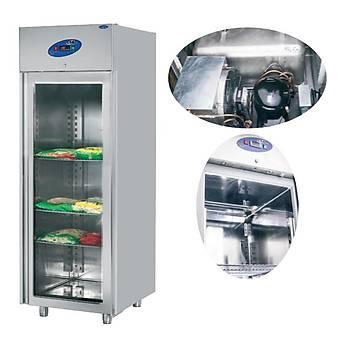 Dikey Monoblok Camlý Buzdolabý Model: CS-DBNK 700-M-C