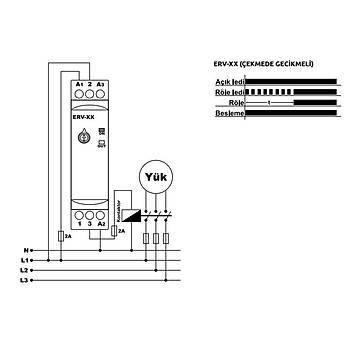 ERV-30D 0,1-30dk Ray Tipi (DIN) Zaman Rölesi TENSE