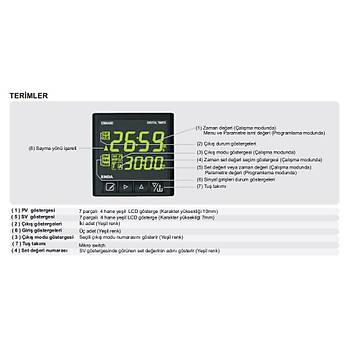 EM4401-SM 48x48mm Dijital Zaman Rölesi (Timer) ENDA