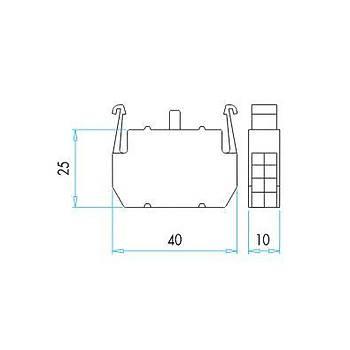 B3 B-Serisi Butonlar İçin Işık Kontak Bloğu EMAS