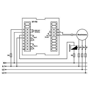 DT-72 Termokupl Tipi Seçilebilir 72x72mm Dijital PID Isı Kontrol Cihazı TENSE