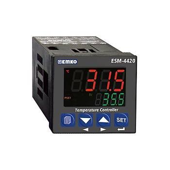 ESM-4420 J/K/R/S/T/PT100 Giriş Tipleri Seçilebilir 48x48mm 230VAC PID ON-OFF Termostat EMKO