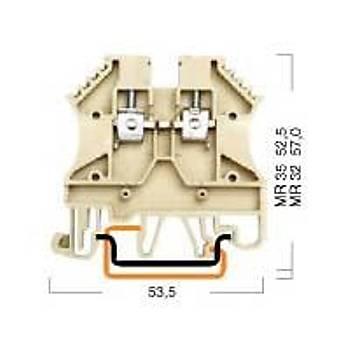 PEK-2,5 Vida Bağlantılı Ray Klemens Sarı 305123 KLEMSAN