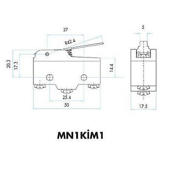 MN1KİM1 Kısa Palet Kollu Mini Asal Siviç EMAS