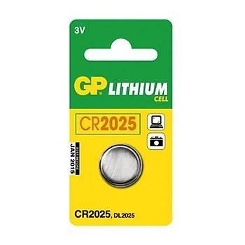 CR2025 3V Lityum Para Pil GP